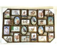 Рамка колаж на 24 фотографії бронзового кольору