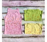 Майка-ластик с печатью спинка кокетка для девочки