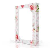 Упаковка из картона для кейтеринга 380х285х50 мм, Pink Roses