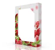 Коробка картонная (70-2), 375х275х70 мм, Тюльпан красный