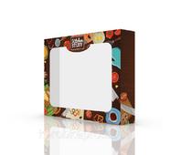 Упаковка для фастфуда картон 230х180х45 мм, Kitchen staff