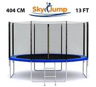 Батут SkyJump 13 фт., 404 см.із захисною сіткою і драбинкою