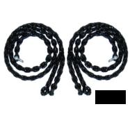 Набір ціпів з покриттям з гуми для гойдалок 180 см Чорний