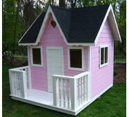 Домик для детей из дерева PINK - 001
