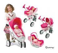 Коляска трансформер для куклы 4в1 Maxi Cosi Quinny Smoby 550389