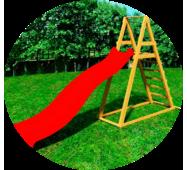 Детская деревянная площадка DELTA с пластиковым спуском 3 метра