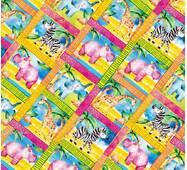"""Пакувальний папір  для подарунків  """"Жирафи, слони, бегемоти"""", 5 шт/уп"""