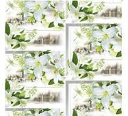 """Пакувальний папір  для подарунків  """" Білі квіти """", 5 шт/уп"""