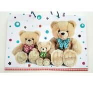 """Пакет для подарунка великий горизонтальний """"3 плюшеві ведмедики"""" 36х22 см   (6 шт/уп)"""