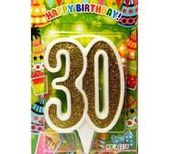 """Свічка цифра ювілейна золото """"30"""""""