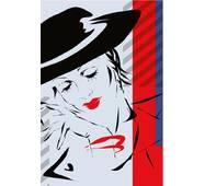 """Пакет для подарунка великий вертикальний """"Ескіз дівчини"""" 25х37 см   (6 шт/уп)"""