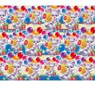 """Подарунковий папір для упаковки  """"Зайчик з кульками"""", 5 шт/уп"""