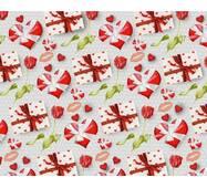 """Подарунковий папір для упаковки  """"Сердечні поцілунки"""", 5 шт/уп"""