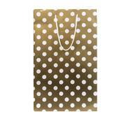 Подарункові пакети горох на золотому, розмір 38 х 24 см (12 шт/уп)