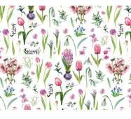 """Подарунковий папір для упаковки  """"Весняні квіти"""", 5 шт/уп"""