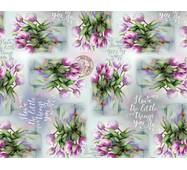 """Подарунковий папір для упаковки  """" Вінтажні квіти  """", 5 шт/уп"""