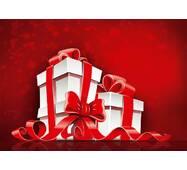 """Пакет для подарка гигант горизонтальный """"Подарки на красном фоне"""" 47х30 см  (6 шт/уп)"""