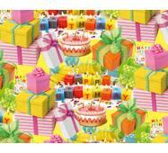 "Подарочная бумага для упаковки  ""Happy Birthday"", 5 шт/уп"