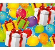"""Подарочная бумага для упаковки  """"Подарки и шарики"""", 5 шт/уп"""