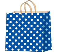 Пакеты для подарков горох на синем фоне размер 24 х 24 см (12 шт./уп.)