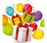 """Подарункові пакети """"Подарунки"""" 23 х 24 см   (6 шт./уп.)"""