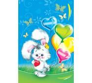 """Пакет для подарка гигант вертикальный """"Зайка с шариками"""" 30х47 см  (6 шт/уп)"""