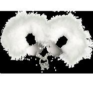 Наручники металеві з білою обробкою Adrien Lastic Handcuffs White