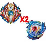 Набор волчков BEYBLADE (Бейблейд) Волчок God Voltraek VS Sieg Xcalibur 3 сезон с пусковыми устройствами
