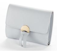 Женский кошелек BAELLERRY Wallet Mini кожаное портмоне на кнопке Светло-фиолетовый