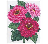 Набор для вышивки Needleart World Needlepoint Kit, Zinnias