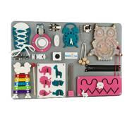 Бизиборд BrainUp Smart Busy Board настольная развивающая игра доска из 18 деталей S40*60 см (6003_1)