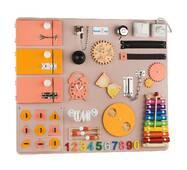 Бизиборд BrainUp Smart Busy Board настольная развивающая игра доска из 30 деталей L60*70 см (6005_1)