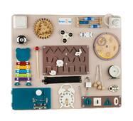 Бизиборд BrainUp Smart Busy Board настольная развивающая игра доска из 25 деталей M50*60 см (6004_1)