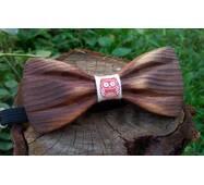 Деревянная бабочка галстук 3D Сова ручной работы, серия Зиррикот