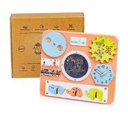 Бизиборд BrainUp Smart Busy Board настольная развивающая игра доска из 10 деталей Mini28*25см