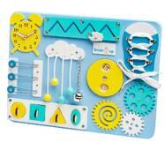 Бизиборд BrainUp Smart Busy Board настольная развивающая игра доска из 9 деталей XS30*40 см (6002_5)