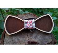 Деревянная бабочка галстук Ободок Цветы - 2  ручной работы, серия Fantasy