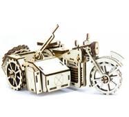 Механический деревянный 3d паззл SUNROZ Мотоцикл BMW R75 125 эл.