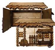 """Подарочный деревянный сувенирный набор """"Настенная Ключница с Фирой Большая"""" ручной работы"""