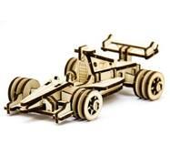Механический деревянный 3d паззл SUNROZ Спортивный болид 68 эл.