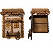 """Подарочный деревянный сувенирный набор """"Настенная Ключница с Фирой Маленькая"""" ручной работы"""