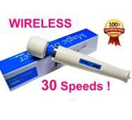 Беспроводной вибромассажер Magic Wand Massager Wireless 30s - ручной универсальный массажер Меджик Ванд