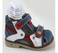 Дитячі ортопедичні туфлі для хлопчиків Mimy арт.F 017, мод.52-30-03, (Туреччина)