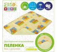 Непромокаемая пеленка Premium 50х70, с рисунком Экопупс