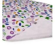 Пеленка двусторонняя непромокающая Eco Cotton р.65х90 см. Фуксия, цветы Эко Пупс