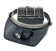 Лупа бинокулярная с подсветкой 1,2-6X увеличение Magnifier 81001
