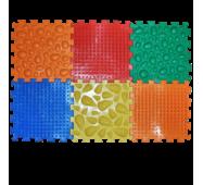 Массажный коврик Микс Пазлы 6 элементов Ортек