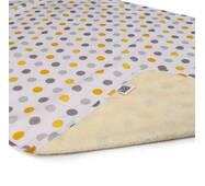 Пеленка двусторонняя непромокаемая Eco Cotton р.65х90 см. горошек Эко Пупс