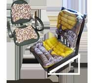 Комплект офисный из гречневой шелухи Лотос, сидушка 40x40, спинка 42x40 см