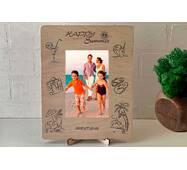 Рамка для фото з дерева з гравіюванням Relax